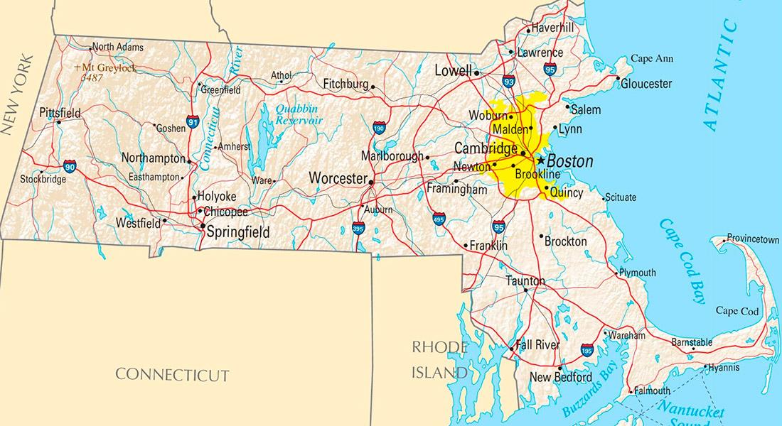 Massachusetts Located